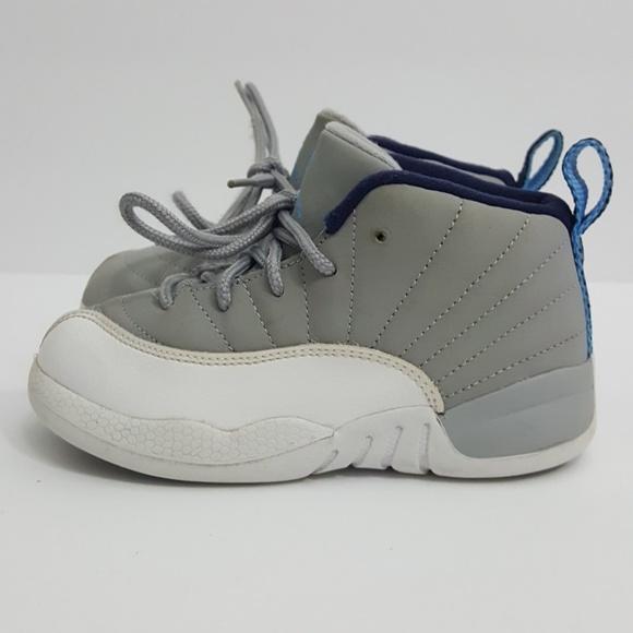 cheaper 22ccf ab35b Air Jordan 12 unc/ wolf grey size 9c toddler baby